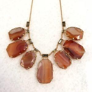 Kate Spade Orange Agate Statemnet Necklace